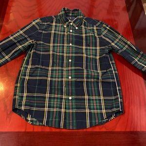 Boys Polo Button Down Long-sleeve Shirt
